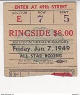 Madison Square Garden 7 Janv 1949 Ringside All Star Boxing Boxe - Boxing