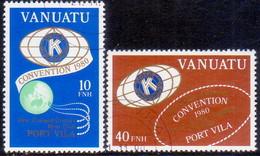 VANUATU 1980 SG #302E-03E Compl.set Used Inscr. In English Kiwanis International - Vanuatu (1980-...)