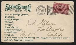 USA 1899 - Stamp Dealer Mail - Illustrated Envelope - Sterling Stamp Co - Scarce - Philately & Coins