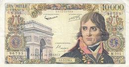 Billet 10000 F Bonaparte Du 6-3-1958 FAY 51.11 Alph. N.105 - 1871-1952 Anciens Francs Circulés Au XXème