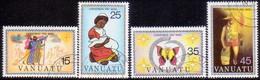 VANUATU 1981 SG #322-26 Compl.set+m/s Used Christmas - Vanuatu (1980-...)