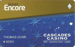 Cascades Casino - Langley, BC Canada - Slot Card - Casino Cards