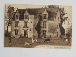 C.P.A. 33 AUBIE ESPESSAS : Château De Buffaud, Animé, Vaches - France