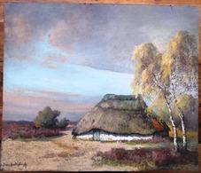 1930 JACQUES VAN DEN SEYLBERGH ( 1884-1960)  - HUT IN DE KEMPEN - Gefixeerde Pastel ! CABANE EN CAMPINE - Pastels