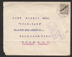 MALTA 1922 - Stamp Dealer Mail - Louis Carabott Stamp Dealer Valetta - Sent To U.S - Philately & Coins