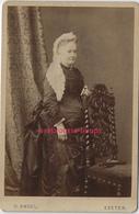 Grand CDV (CAB) Vers 1880 Femme Mode époque Victorienne-photo O. Angel à Exeter-Angleterre - Fotos