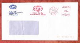 Brief, Hasler C72-5896, Hella, 80 Pfg, Lippstadt 1988 (50954) - Marcophilie - EMA (Empreintes Machines)