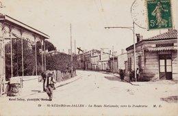 CPA SAINT MEDARD EN JALLES 33 - La Route Nationale Vers La Poudrerie - Otros Municipios