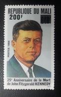 MALI 1992 ON 1988 JOHN KENNEDY KENEDY OVERPRINT OVPT SURCHARGED SURCHARGE URGENCE MNH - Mali (1959-...)