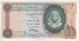 EGYPT 10 EGP 1961 P-41 Sig/ REFAII EF HIGH CRISP */* - Egypt