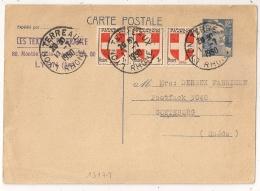 TARIF 15F, ENTIER GANDON 12F + SAVOIE Pour GOETEBORG Suède. LYON LES TERREAUX Rhone. - Marcophilie (Lettres)