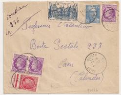 SOUDAN Loire Inférieure. Recommandé Provisoire . TARIF 20F. 1947. - Marcophilie (Lettres)