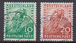 Alliierte Bes Bi-Zone MiNr.106 - 107 O Gest. Radrennen Quer Durch Deutschland ( 6247) Günstige Versandkosten - Bizone