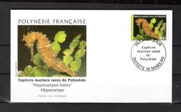 """POLYNESIE FRANCAISE 99 : Enveloppe 1er Jour """" HIPPOCAMPE  / PAPEETE Le 18-03-1999 """" N° YT 581 . Parf état. - Fische"""