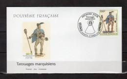 """Enveloppe 1er Jour De 1999 """" TATOUAGES MARQUISIENS """". N° YT 585. Parfait. état. FDC - FDC"""