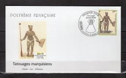 """Enveloppe 1er Jour De 1999 """" TATOUAGES MARQUISIENS """". N° YT 584. Parfait. état. FDC - FDC"""