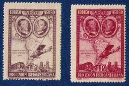 1930 MH Spain Variety Sc C55a And Sc C55 Air Post Stamps Very Fine Pair CV $85 - 1889-1931 Reino: Alfonso XIII