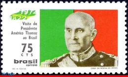Ref. BR-1217 BRAZIL 1972 FAMOUS PEOPLE, VISIT OF AMERICO THOMAS,, PRESIDENT OF PORTUGAL, MI# 1311, MNH 1V Sc# 1217 - Sonstige