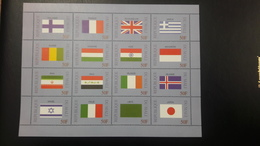 MALI 1999 DRAPEAUX FLAGS FLAG FINLAND FRANCE UK GREECE INDIA ITALY JAPAN GUINEA IRAN IRAQ IRELAND ISLANDE IICELAND MNH - Mali (1959-...)