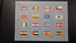 MALI 1999 DRAPEAUX FLAGS FLAG CANADA CHILI SPAIN CROATIA DENMARK UAE EMIRATES EGYPT EGYPTE CAMEROON MNH - Mali (1959-...)