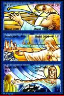 Ref. BR-2773 BRAZIL 2000 - RELIGION, REDENTOR, STAR,, SHIPS, FISH, MI# 3115-20, SET MNH, CHRISTMAS 6V Sc# 2773 - Poissons