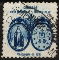 Mary (mother Of Jesus) Croisade De La Medaille Miraculeuse - 1930 FRANCE Charity Label Cinderella Vignette - Christianisme