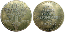 01140 GETTONE JETON TOKEN HAPPY NEW YEAR TOKEN 2008,5 - Allemagne