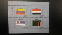 MALI 1999 DRAPEAUX FLAGS FLAG YEMEN URUGUAY VENEZUELA ZAMBIA MNH - Mali (1959-...)