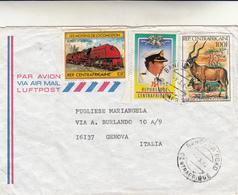 Republique Centraficaine To Genova. Cover 1982 - Repubblica Centroafricana