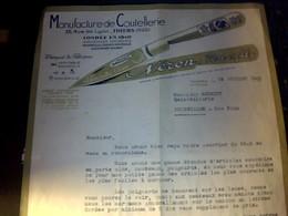 Facture Fabrique  De Coutellerie Thiers  Neron Pere Et Fils A Thiers Puy  De Dome Annee 1965 - Otros
