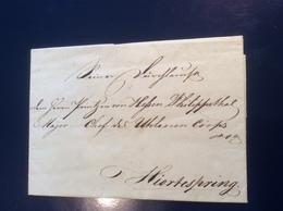 Copenhagen 1811 Letter >PRINCE VON HESSEN PHILIPPSTHAL: Army Hjortespring (cover Danmark Dänemark Brief - Danimarca