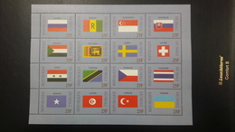 MALI 1999 DRAPEAUX FLAGS FLAG RUSSIA CZECH SINGAPOR SLOVAKIA SWEEDEN SWITZERLAND TUNISIA TURKEY UKRAINE MNH - Mali (1959-...)