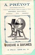 77 MONTEREAU - Scierie à Bûches A. PRÉVOT Constructeur, Faubourg Saint-Maurice - (thème Du Bois) - Montereau