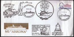 Germany 1991 / Ship's Mail / Schiffspost / Ship MS Arkona / Nordkap / Nordland Total / Bell - Bateaux