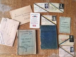 Divers Papiers Photos Carnets De Vol De L'aviateur Jean Monsarrat Aviation Annees 1910's A 1930's - Aviation