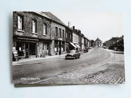 C.P.A. ETHE : La Grand'Rue, Voiture Peugeot 403, Animé, Timbre - Belgique