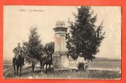 GCB-06  Chéu  Le Monument. Cavaliers, ANIME. Circulé En 1915 Vers La Suisse - Altri Comuni