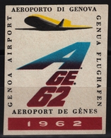 Airliner Airplane / GENOVA Genoa Airport - 1962 Italy - Used - Flugzeuge