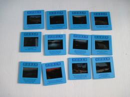 12 Diapositives HUBER  A Découvrir Chateau - Diapositives
