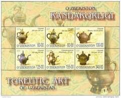 Uzbekistan 2005 Mih. 578/83 (Bl.38) Artistic Metalworking. Toreutics MNH ** - Uzbekistan
