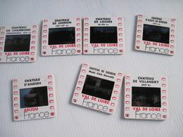 7 Diapositives La Goélette Chateau De Chambord / Chinon / Loches / D'azay Le Rideau / Saumur / Villandry / D'angers - Diapositives (slides)