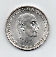 Spagna - 1966 - 100 Pesetas -  Argento - (FDC9564) - [ 5] 1949-… : Regno