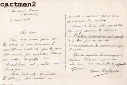 AUTOGRAPHE DEDICACE MAURICE BRILLANT POETE ROMANCIER ECRIVAIN WALTER STRARAM MUSIQUE OPERA DE PARIS CHEF ORCHESTRE - Autografi