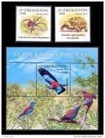 Uzbekistan 2016 Mih. 1148/49 + 1150 (Bl.81) Fauna. Spider. Turtle. Birds MNH ** - Uzbekistan