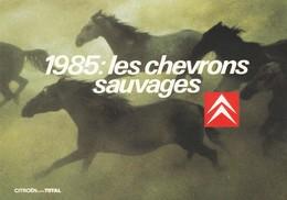 Publicité : CITROEN : 1985: Les Chevrons Sauvages ( Cpm ) - Publicité