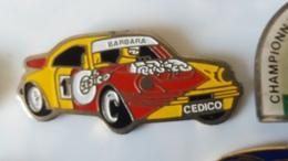 Pin's  PORSCHE 911  JOSE  BARBARA  Cedico - Porsche