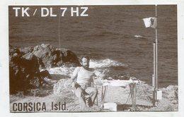 QSL CARD  - AK 322734 France - Corsica Isld. - Radio-amateur