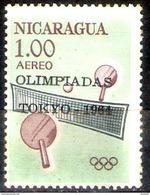 1280  Ping Pong - Nicaragua Yv A 503 - MNH - Free Shipping - 1,50 - Tafeltennis