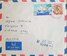 Kuwait 1971 Registered Letter To Austria - Kuwait