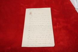 Lettre De L'amiral Reynault De Prémesnil Pour Le Mariage De Son Fils Jacques Avec  Marie Louise De Lestapis 1900 - Documents
